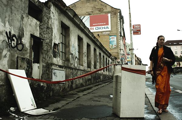 Prague, Konevova street, Zizkov side